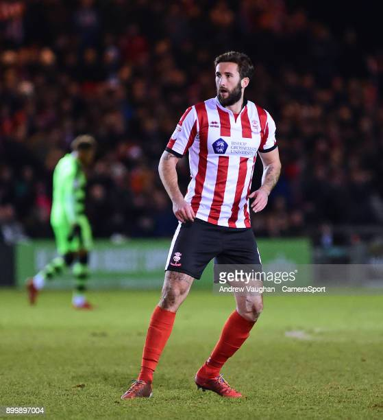 Lincoln City's Ollie Palmer during the Sky Bet League Two match between Lincoln City and Forest Green Rovers at Sincil Bank Stadium on December 30...
