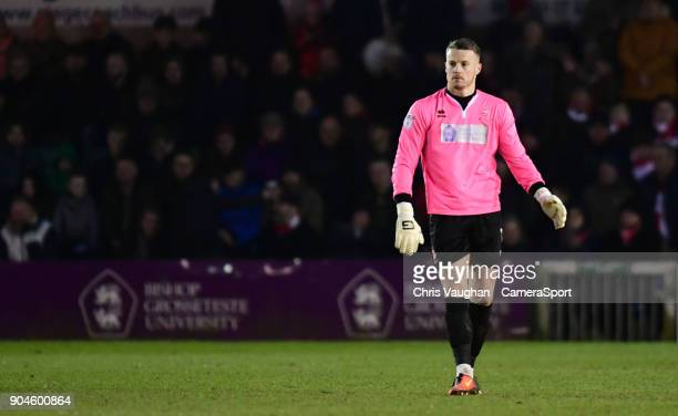 Lincoln City's Paul Farman during the Sky Bet League Two match between Lincoln City and Notts County at Sincil Bank Stadium on January 13 2018 in...