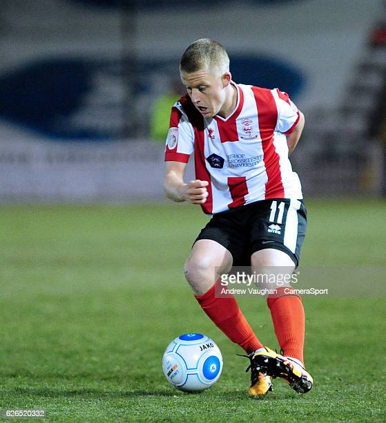 Lincoln City's Terry Hawkridge during the Vanarama National League match between Lincoln City and Wrexham at Sincil Bank Stadium on November 29 2016...