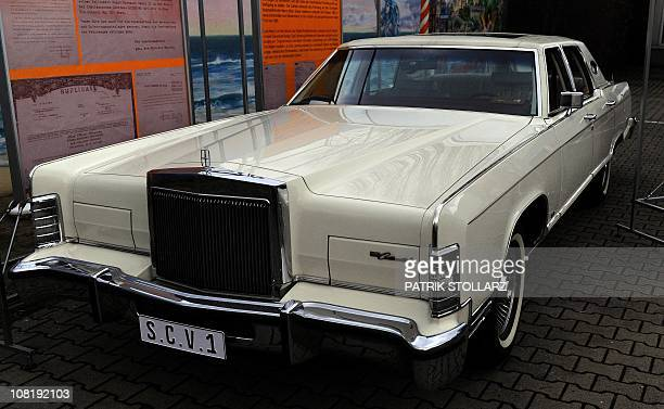 A Lincoln Continental car which once belonged to late Pope John Paul II stands on the grounds of a car dealer on January 20 2011 in Duesseldorf...