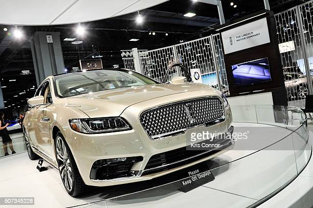 Lincoln Continental is on display during The Washington Auto Show at the Washington Auto Show in Washington DC on January 28 2016