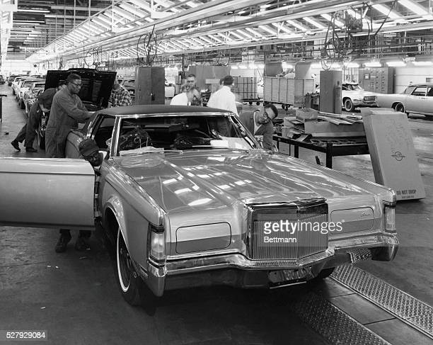 Lincoln Continental Mark III on Assembly Line