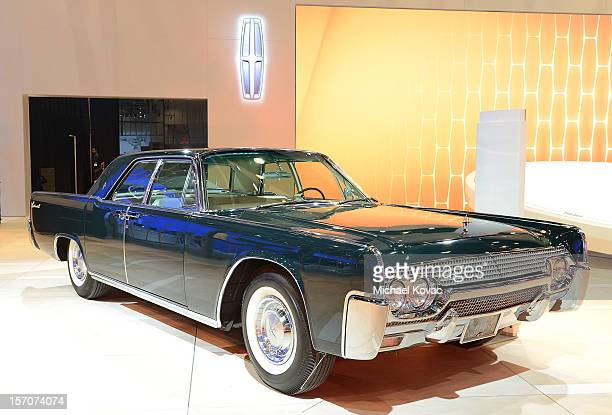 Lincoln Continental Sedan appears as part of Lincoln's Heritage On Display At Los Angeles Auto Show Press Day at Los Angeles Convention Center on...