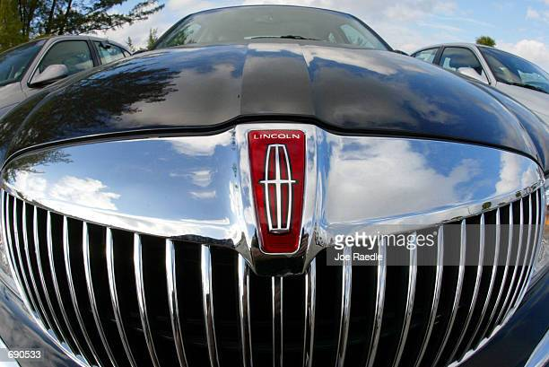 Lincoln Continental sits on the sales lot at Holman Lincoln Mercury Miami January 14 2002 in Miami Florida Ford Motor Company has announced they...