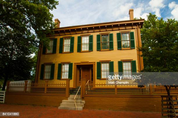 lincoln home in springfield, illinois, usa - mary todd lincoln stock photos and pictures