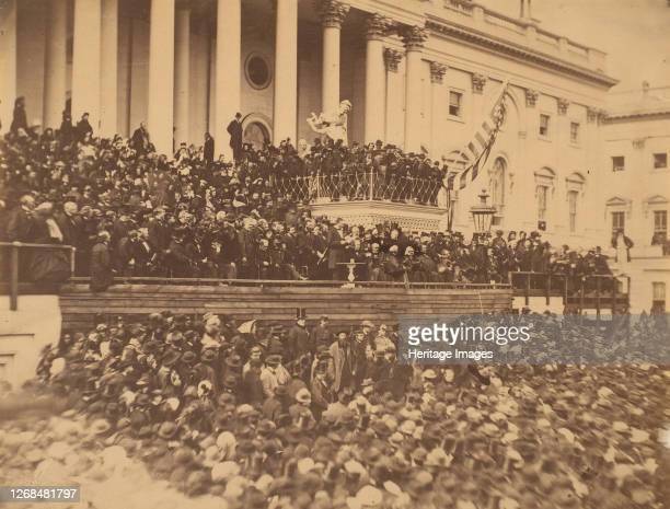 Lincoln Inauguration, March 4, 1865. Artist Alexander Gardner.