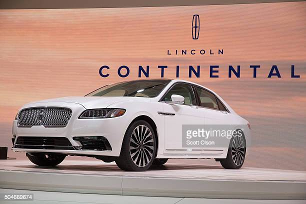 Lincoln introduces the 2017 Continental at the North American International Auto Show on January 12 2016 in Detroit Michigan The car was introduced...