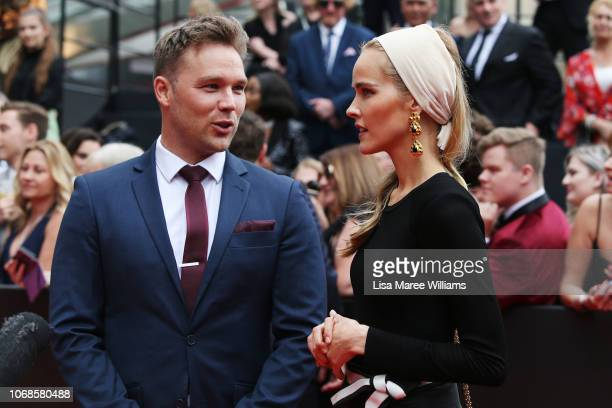 Lincoln Lewis and Isabel Lewis attend the 2018 AACTA Awards Presented by Foxtel at The Star on December 5, 2018 in Sydney, Australia.