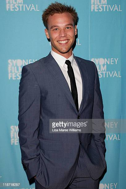 Lincoln Lewis arrives at the Sydney screening of '33 Postcards' at Dendy Opera Quays Cinema on June 9 2011 in Sydney Australia