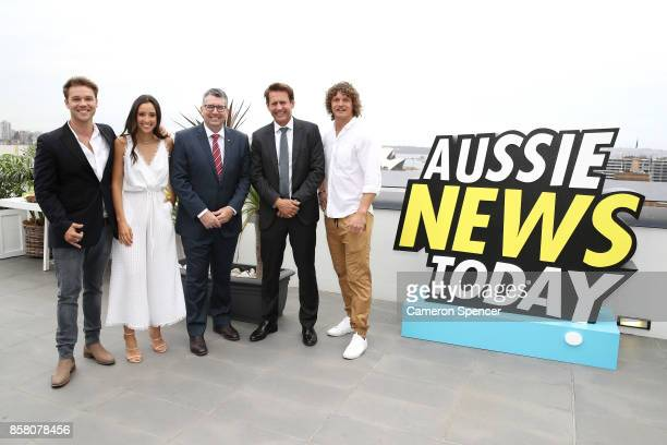 Lincoln Lewis Teigan Nash Assistant Minster of Trade Tourism and Investment Hon Keith Pitt Tourism Australia Chariman Bob East and Nick Cummins...