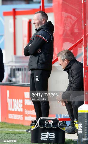 Lincoln manager Michael Appleton during the Sky Bet League One Play-off Semi Final 1st Leg match between Lincoln City and Sunderland at LNER Stadium...