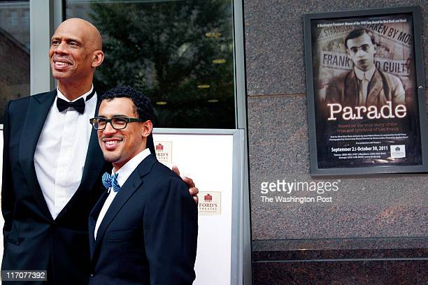 Lincoln Medal recipient Kareem AbdulJabbar with his son Amir on the red carpet at the Ford's Theatre Annual Gala held at the Ford Theatre with a...