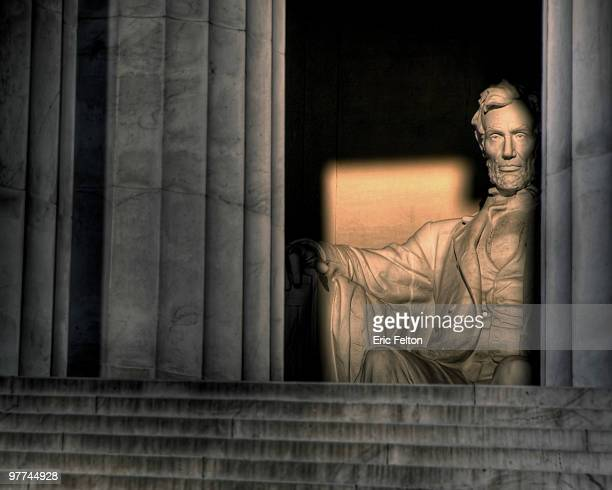 lincoln memorial at sunrise - history stock pictures, royalty-free photos & images