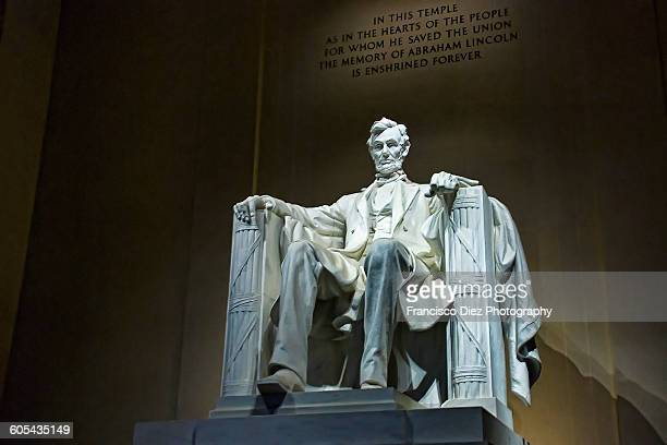 lincoln memorial, dc - lincoln memorial stock pictures, royalty-free photos & images