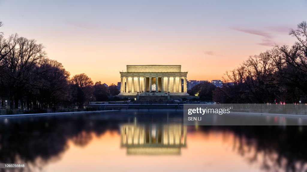 Lincoln Memorial in the night : Stock Photo