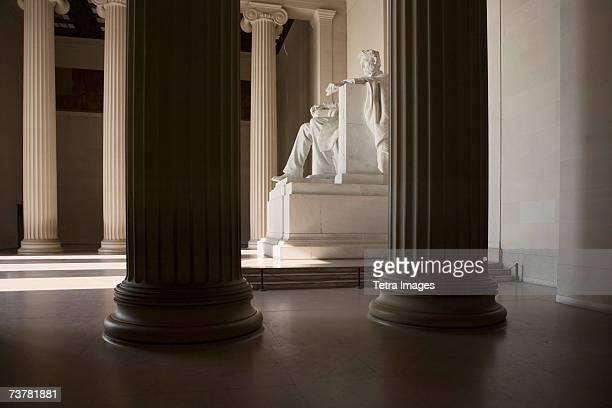 Lincoln Memorial interior with statue Washington DC USA