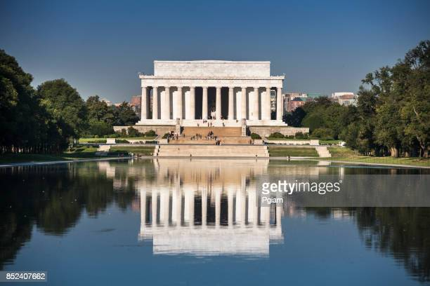 lincoln memorial - reflection pool stock pictures, royalty-free photos & images