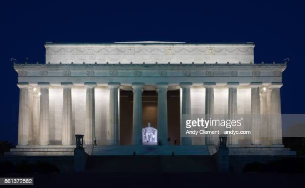lincoln memorial - andy clement stock pictures, royalty-free photos & images