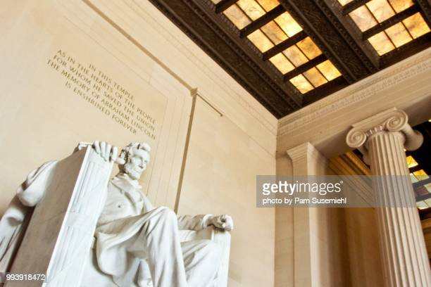 lincoln memorial statue - us president stock pictures, royalty-free photos & images