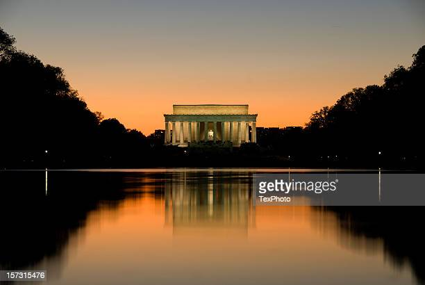 lincoln memorial sunset - lincoln memorial stock pictures, royalty-free photos & images