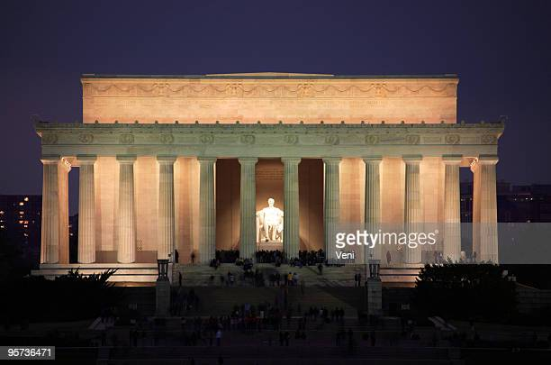 lincoln memorial, washington dc - lincoln memorial stock pictures, royalty-free photos & images