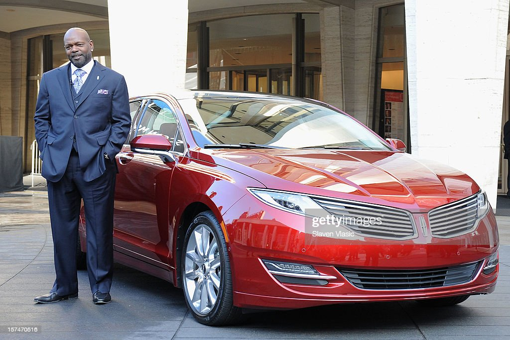 Lincoln Motor Company Ambassador Emmitt Smith attends Ford Lincoln unveiling the new brand direction Lincoln with Emmitt Smith at Lincoln Center on December 3, 2012 in New York City.