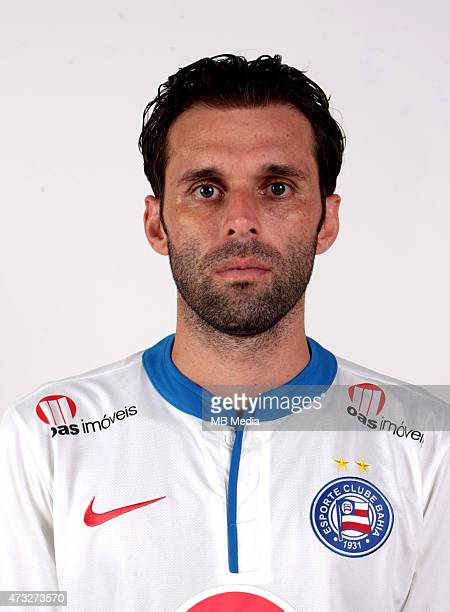 Lincoln of Esporte Clube Bahia poses during a portrait session August 14 2014 in SalvadorBrazil