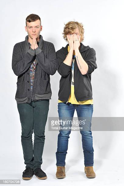 Lincoln Parish and Brad Schultz from Cage the Elephant during a portrait shoot in London February 3 2011