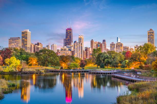 Lincoln Park Chicago Illinois Skyline - Fine Art prints