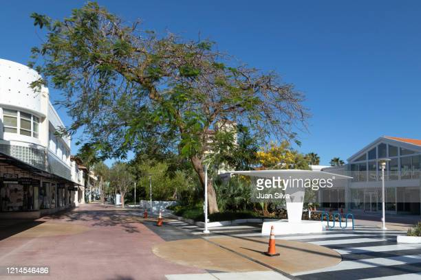 lincoln road during quarantine - lincoln road stock pictures, royalty-free photos & images