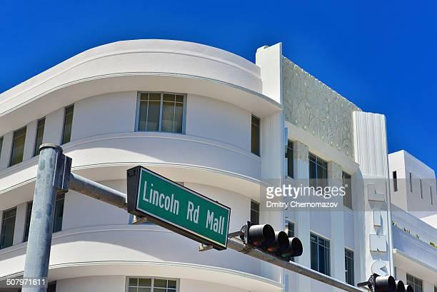 Lincoln Road Mall street sign located in Miami Beach.