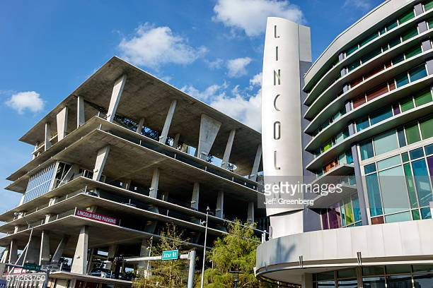 Lincoln Road, movie theater multi-level parking.
