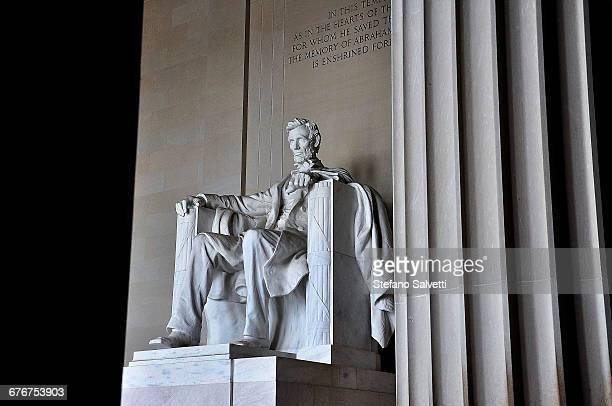 Lincoln statue in memorial