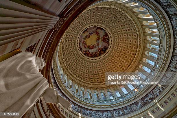 lincoln statue & rotunda - architectural dome stock pictures, royalty-free photos & images