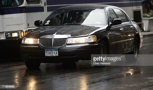 Lincoln Town Car drives in lower Manhattan September 15 2006 in New York City After speculation that Ford Motor Co would discontinue making the...