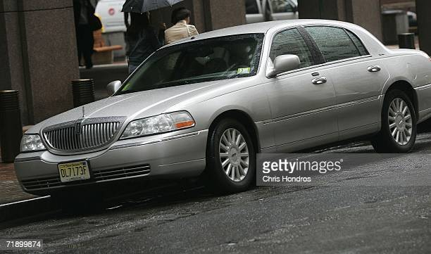 Lincoln Town Car waits outside a financial services firm in lower Manhattan September 15 2006 in New York City After speculation that Ford Motor Co...