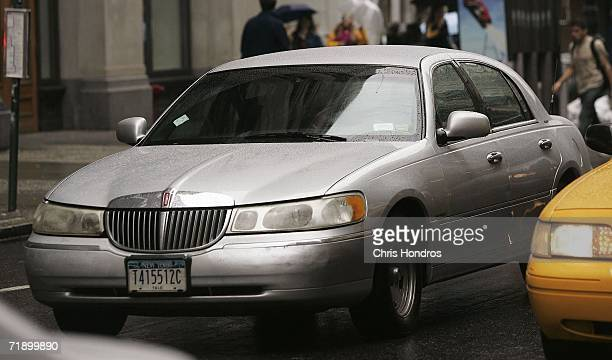 Lincoln Town Car works its way through traffic September 15 2006 in New York City After speculation that Ford Motor Co would discontinue making the...