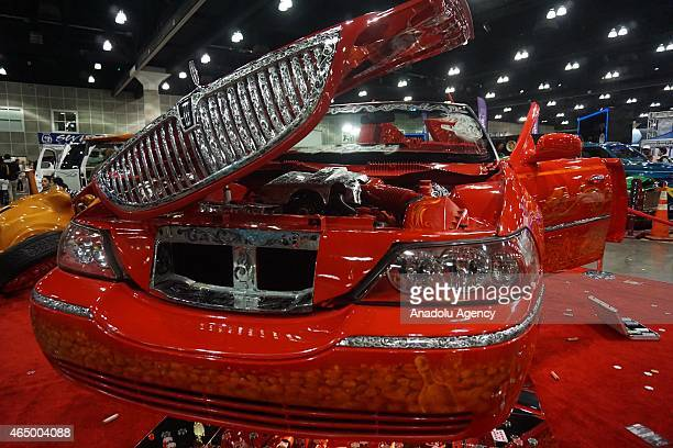 Lincoln Town is displayed at DUB Show 2015 custom cars exhibition at Los Angeles Convention Center on March 01 2015 in Los Angeles CA DUB Show 2015...