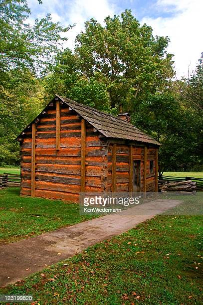 lincoln's boyhood home - abraham lincoln stock pictures, royalty-free photos & images