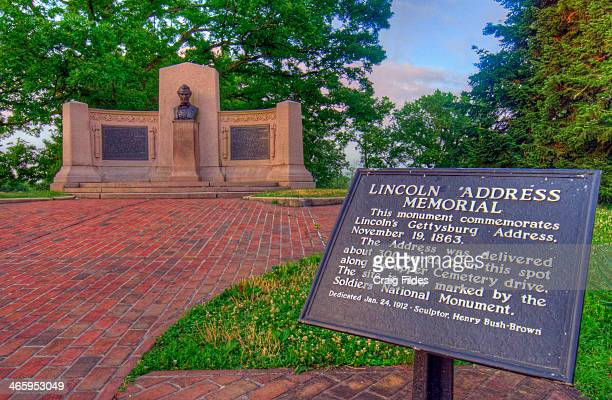 CONTENT] Lincoln's Gettysburg Address Memorial in the National Cemetery in Gettysburg National Military Park taken on Independence Day