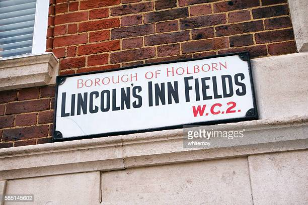 lincoln's inn fields, borough of holborn - sign - holborn stock pictures, royalty-free photos & images