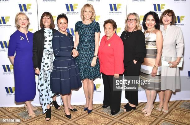 Linda A Willett Kay Unger Sheila Johnson Paula Zahn Donna Shalala Deirdre Quinn Joyce F Brown and Ilene Wachs attend the 8th Annual Elly Awards...