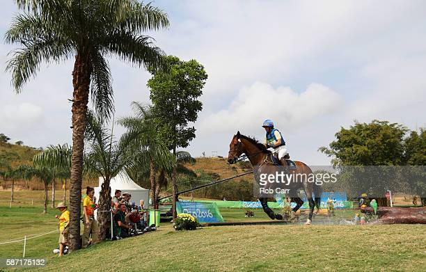 Linda Algotsson of Sweden riding Fairnet competes during the Cross Country Eventing on Day 3 of the Rio 2016 Olympic Games at the Olympic Equestrian...