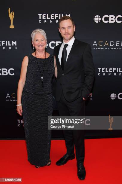 Linda Ashmore and Actor Aaron Ashmore attend the 2019 Canadian Screen Awards Broadcast Gala at Sony Centre for the Performing Arts on March 31 2019...