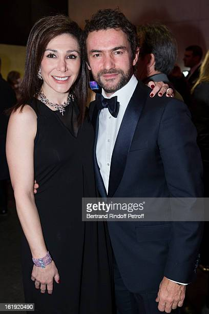 Linda Barras President of the event and Cyril Vergniol attend the 30th edition of 'La Nuit Des Neiges' Charity Gala on February 16 2013 in...