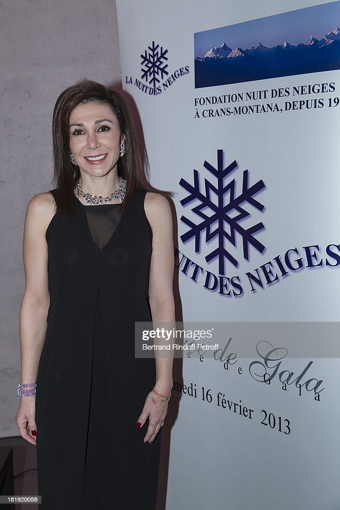 Linda Barras, President of the event, attend the 30th edition of 'La Nuit Des Neiges' Charity Gala on February 16, 2013 in Crans-Montana, Switzerland.