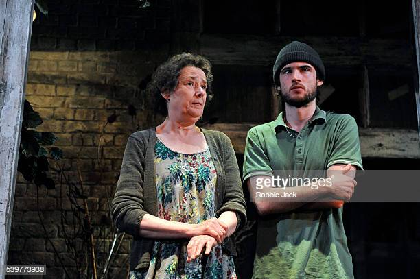 Linda Bassett as Frieda and Tom Sturridge as Harry in Simon Stephens's Wastwater directed by Katie Mitchell at the Royal Court in London