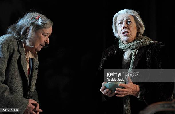Linda Bassett as Iris and Frances de la Tour as Dorothy Stacpoole in Alan Bennett's People directed by Nicholas Hytner at the National Theatre in...