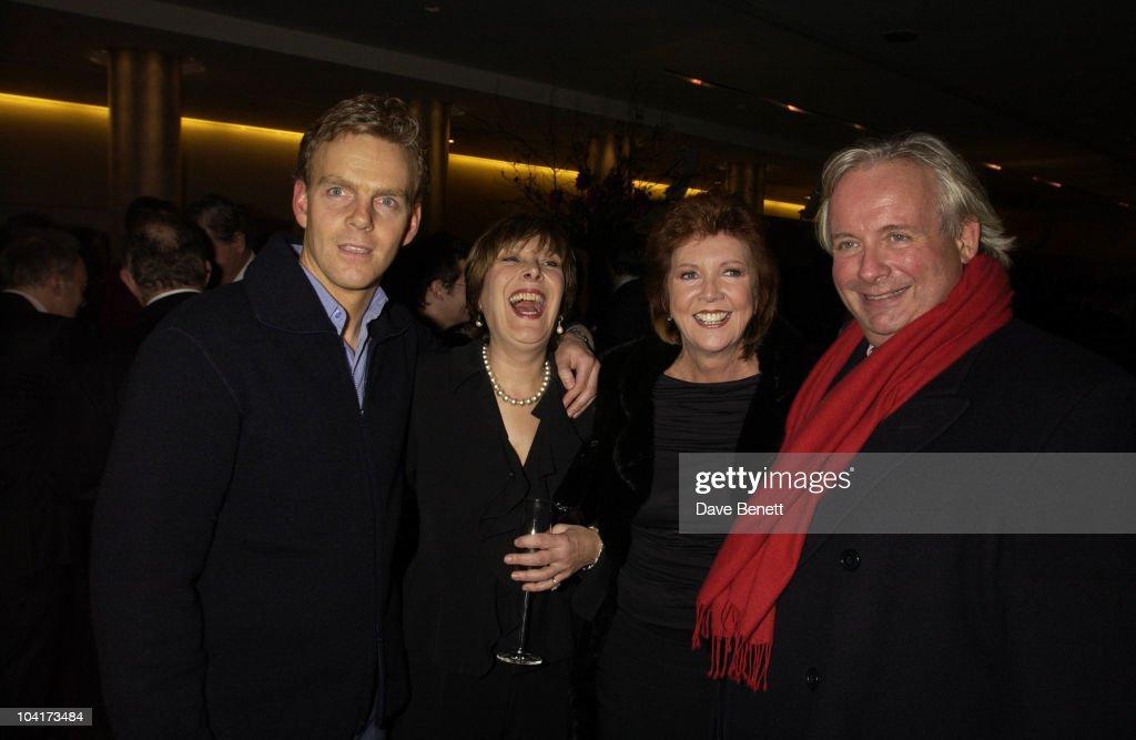 Linda Belingham ,cilla Black And Christopher Biggins, At The Theatre Royal Haymarket,and The Party At The Trafalgar Hotel, London.