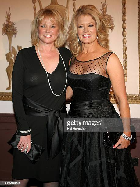 Linda Bell Blue and Mary Hart during Broadcast and Cable Magazine Hall of Fame Induction Ceremony in New York City October 23 2006 at Waldorf Astoria...